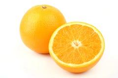 Full And Half Orange Stock Images