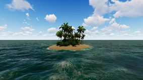 Island Background Animation stock video