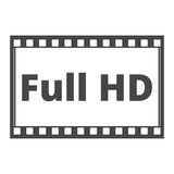 Full HD icon Royalty Free Stock Photo