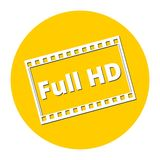 Full HD icon Royalty Free Stock Images