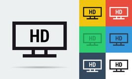 Full HD monitor icon Stock Images