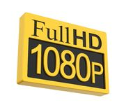 Full HD 1080p Icon Isolated. On white background. 3D render Stock Photo