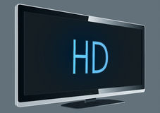 Full HD TV. Vector Drawing Royalty Free Illustration