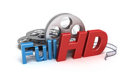 Full HD Video. Concept icon Royalty Free Stock Image