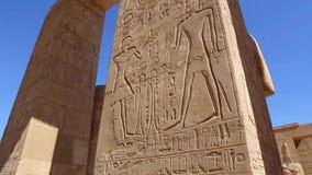 Full HD video för Luxor tempel lager videofilmer