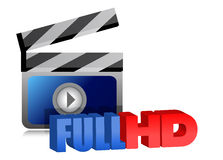 Full HD video sign illustration design Stock Photo