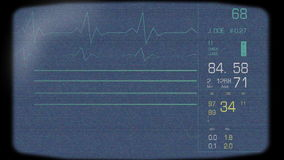 Full Heart Monitor Screen Stock Images