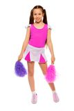 Cute little cheerleader Royalty Free Stock Images