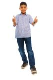 Black boy thumbs up Royalty Free Stock Photography