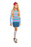 Full height portrait of blond 10 years old girl Royalty Free Stock Photography