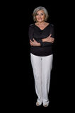 Full height portrait of mature woman Royalty Free Stock Images