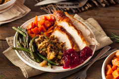 Full Homemade Thanksgiving Dinner Stock Images