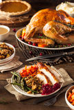 Full Homemade Thanksgiving Dinner Royalty Free Stock Images