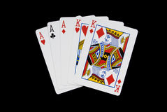Full House. Playing cards - full house hand Royalty Free Stock Photo