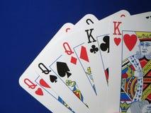 Full House. Lucky hand of cards Stock Photos