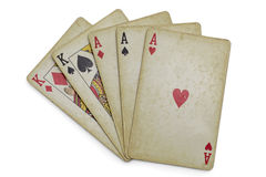 Full house aces kings Royalty Free Stock Photography