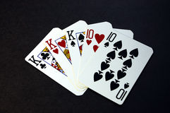 Full house of cards Royalty Free Stock Photos