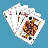 Full house jacks aces Royalty Free Stock Photo