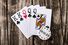 Full House - Kings & Queens Poker Stock Photo