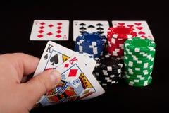 Full House in Poker Stock Image