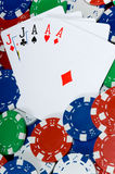 Full HOuse in Poker Stock Image