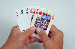 Full house poker hand. Stock Photography