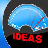 Full Of Ideas Indicates Indicator Invention And Inventions Stock Photo