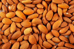 Full Image Close Up of Almonds Stock Photography