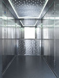 Full inox elevator. The inside of an elevator royalty free stock photos