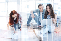 Cheerful colleagues working in the office Royalty Free Stock Photo