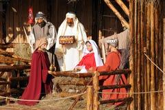 full julkrubba royaltyfria bilder
