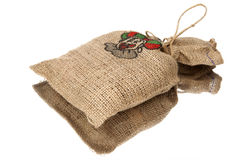 Full jute bag sinterklaas Stock Image