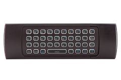Full keyboard remote control for smart tv. Full keyboard modern remote control for smart tv, isolated on white background Royalty Free Stock Image