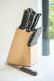Full kitchen knife set Royalty Free Stock Image