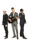 Full längd av det musikaliska musikbandet Royaltyfri Fotografi