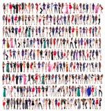 Full längd av härliga unga kvinnor fotografering för bildbyråer