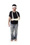 Full längd för stående olycksoffer royaltyfri foto