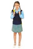 full längdschoolgirl arkivfoto
