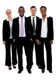 Full längdstående av affärskollegor arkivfoto