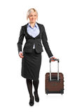 full längdstående för affärskvinna Arkivbild