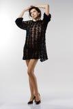 full längdståendekvinna Arkivbild