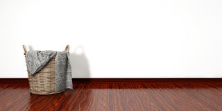 Full laundry basket. Household chore concept Royalty Free Stock Photography
