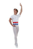 Full lenght portrait of a male dancer Stock Photography