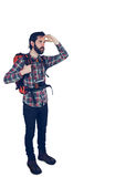 Full length of adventurer looking away Royalty Free Stock Photo