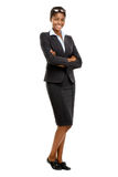 Full length African American Attractive young businesswoman whit Stock Photo