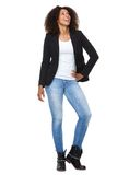 Full length of an attractive african american woman smiling Stock Photography