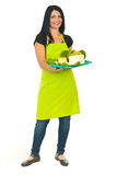 Full length of attractive cheese maker female Stock Photography