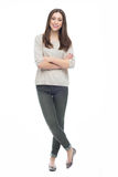Full length of attractive young woman Royalty Free Stock Image