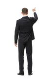 Full-length backview of business man attention gesturing Stock Photos