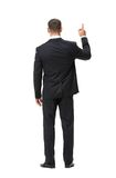 Full-length backview of businessman attention gesturing Stock Images